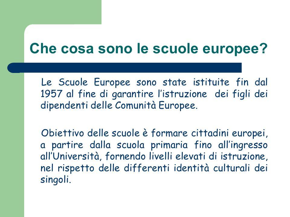 Che cosa sono le scuole europee