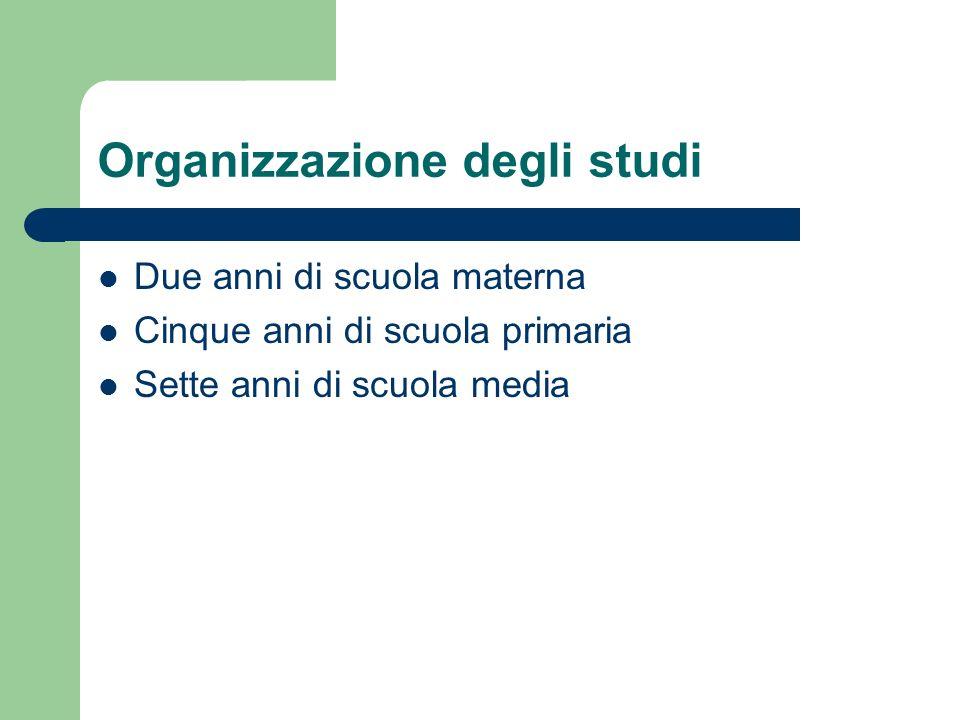 Organizzazione degli studi