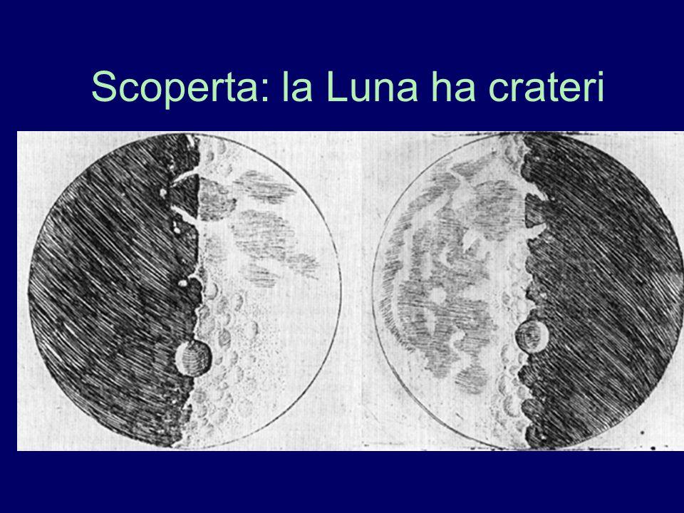 Scoperta: la Luna ha crateri