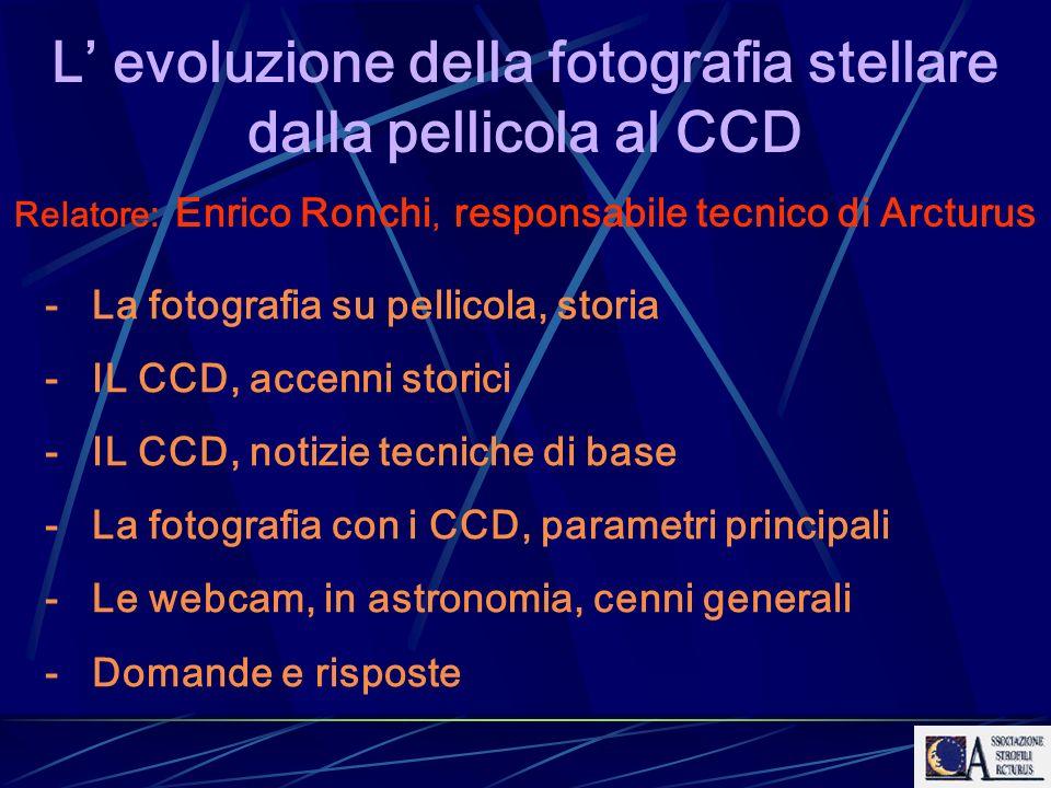 L' evoluzione della fotografia stellare dalla pellicola al CCD