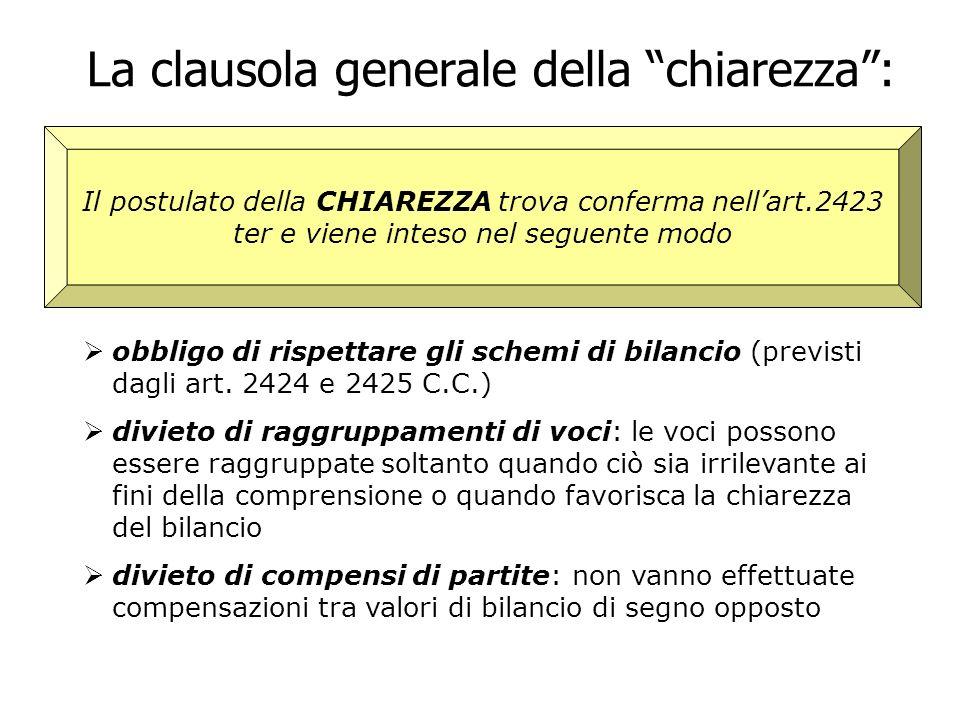 La clausola generale della chiarezza :