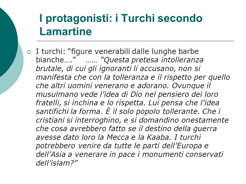 I protagonisti: i Turchi secondo Lamartine