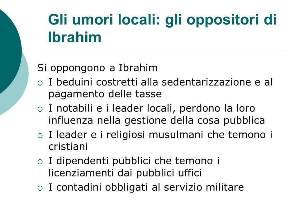 Gli umori locali: gli oppositori di Ibrahim