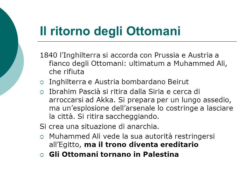 Il ritorno degli Ottomani