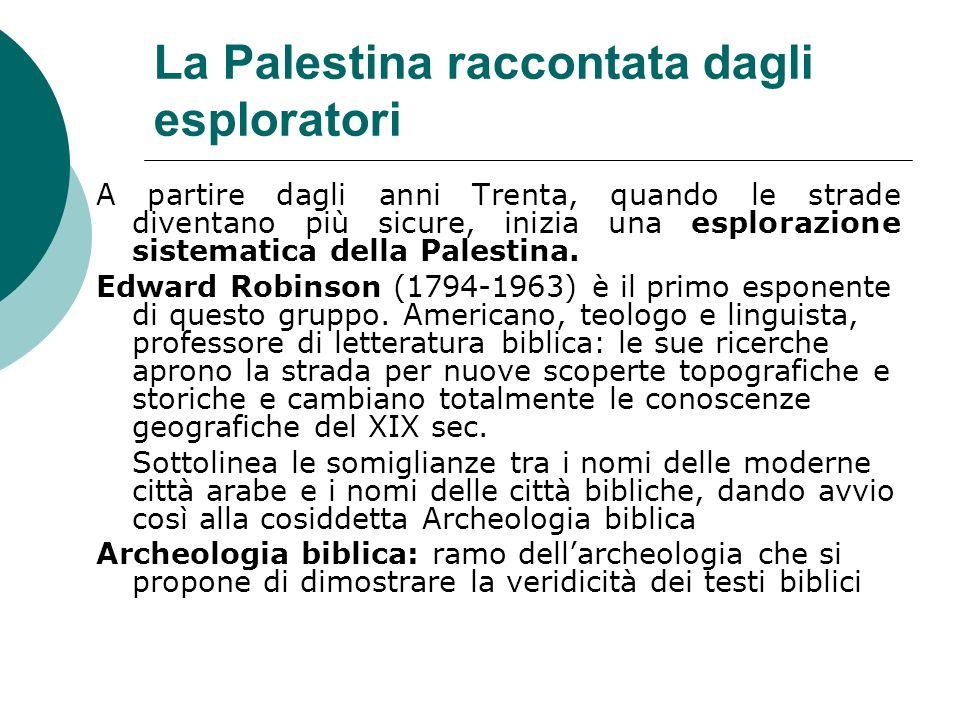 La Palestina raccontata dagli esploratori