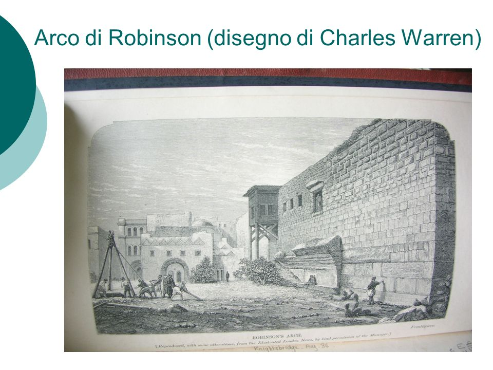 Arco di Robinson (disegno di Charles Warren)