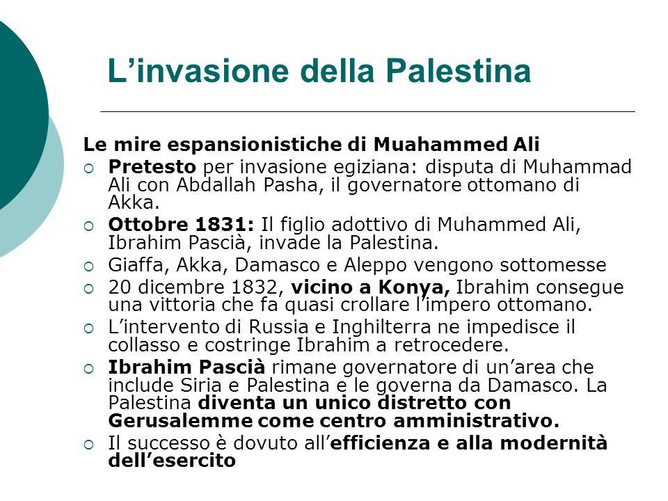 L'invasione della Palestina