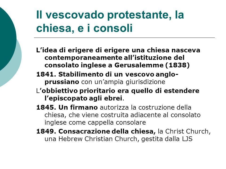 Il vescovado protestante, la chiesa, e i consoli