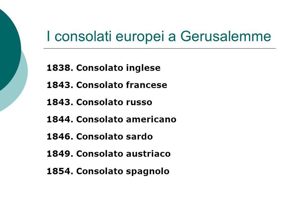 I consolati europei a Gerusalemme