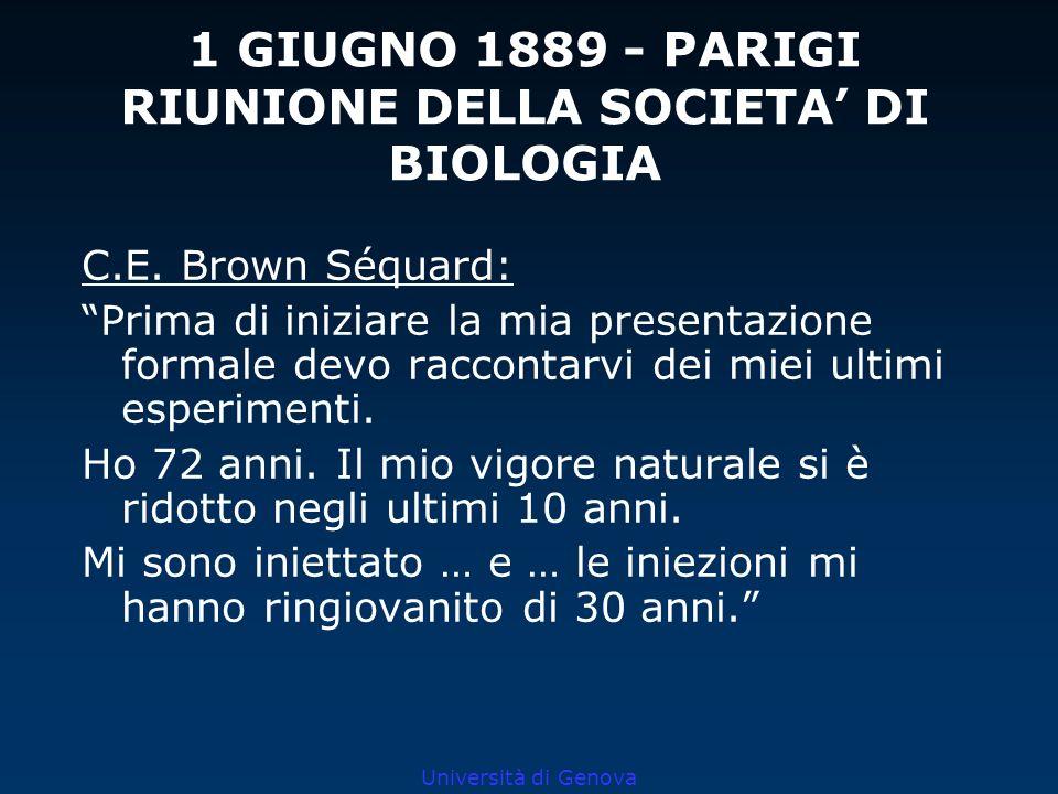 1 GIUGNO 1889 - PARIGI RIUNIONE DELLA SOCIETA' DI BIOLOGIA