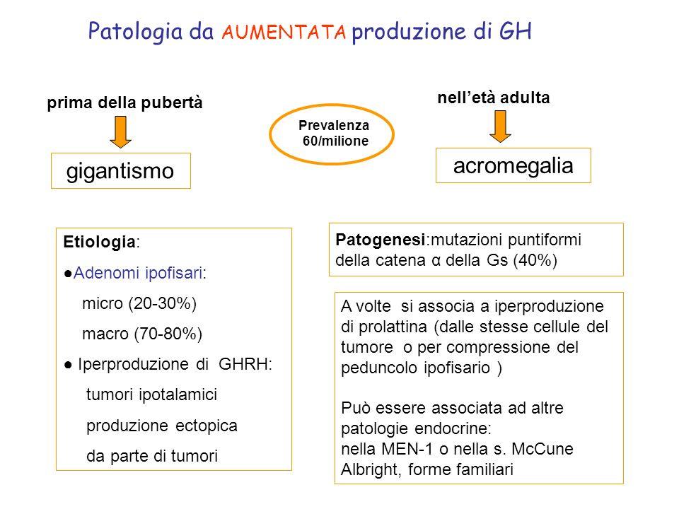 Patologia da AUMENTATA produzione di GH
