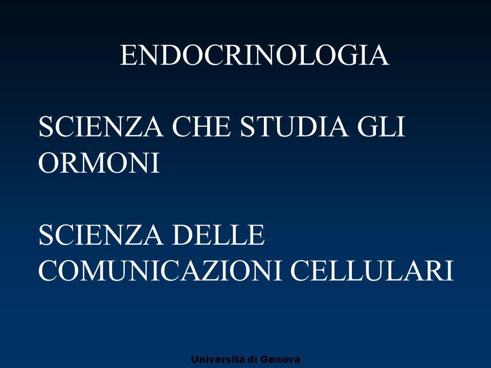 ENDOCRINOLOGIA SCIENZA CHE STUDIA GLI ORMONI SCIENZA DELLE COMUNICAZIONI CELLULARI
