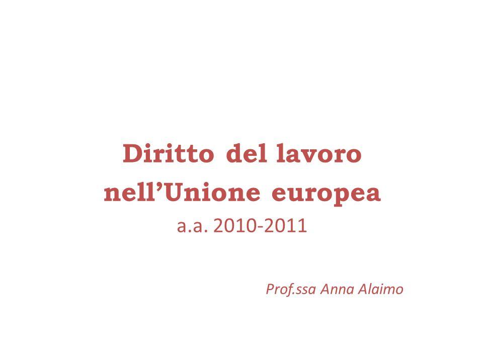 Diritto del lavoro nell'Unione europea