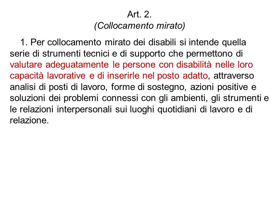 Art. 2. (Collocamento mirato)