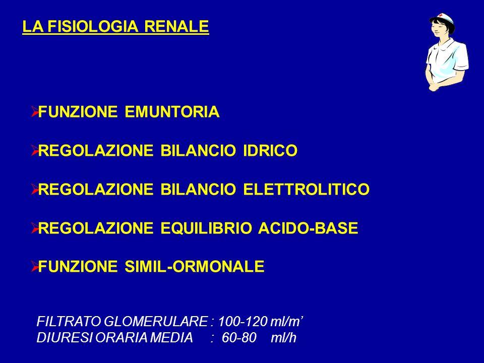 REGOLAZIONE BILANCIO IDRICO REGOLAZIONE BILANCIO ELETTROLITICO