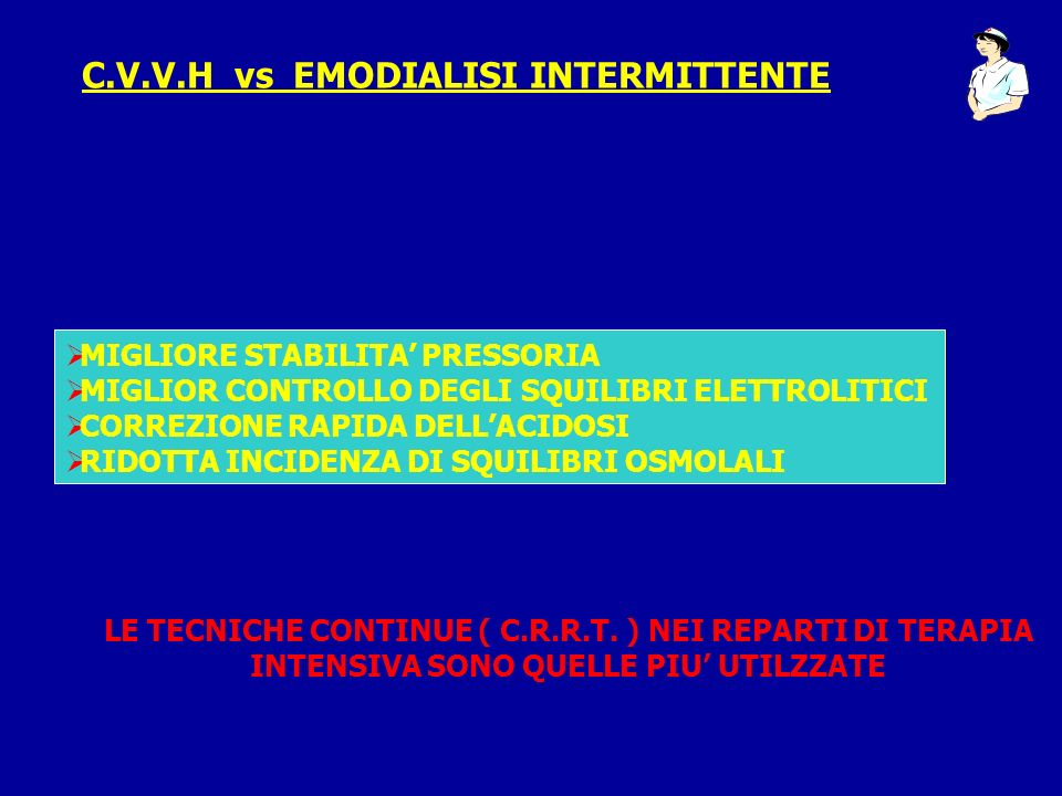 C.V.V.H vs EMODIALISI INTERMITTENTE