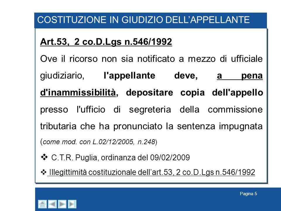 COSTITUZIONE IN GIUDIZIO DELL'APPELLANTE