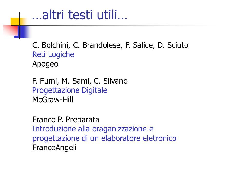 …altri testi utili… C. Bolchini, C. Brandolese, F. Salice, D. Sciuto