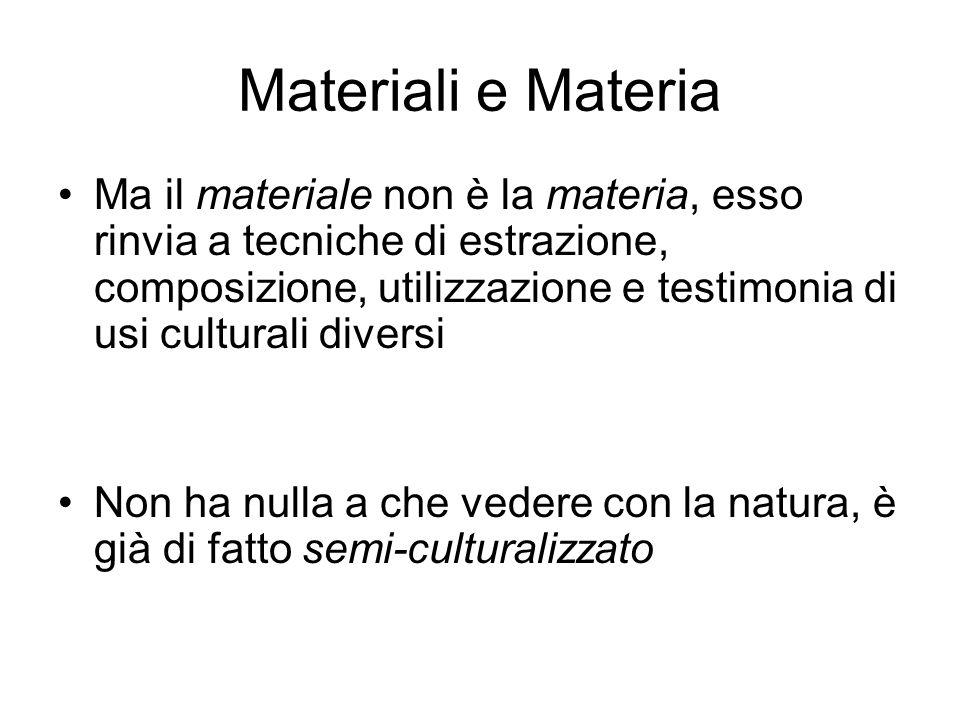 Materiali e Materia