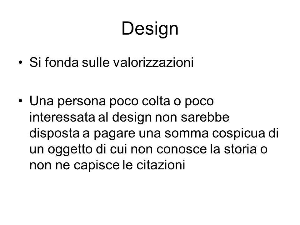 Design Si fonda sulle valorizzazioni