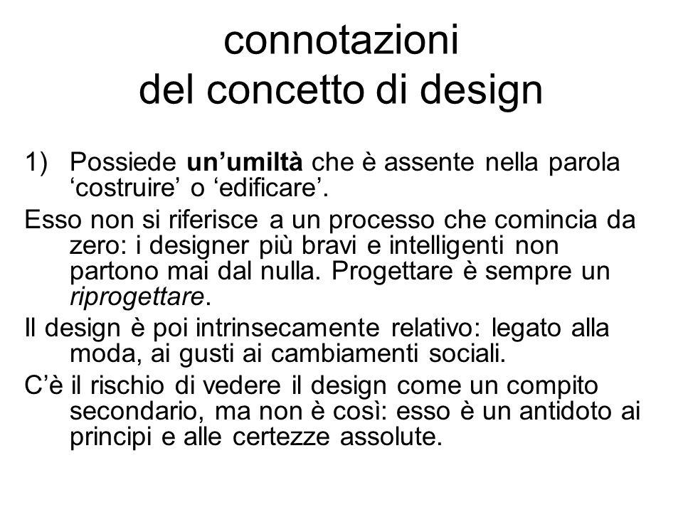 connotazioni del concetto di design