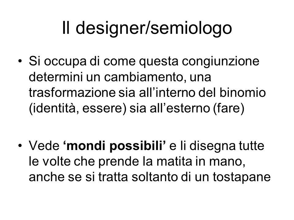 Il designer/semiologo