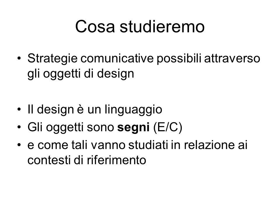 Cosa studieremo Strategie comunicative possibili attraverso gli oggetti di design. Il design è un linguaggio.