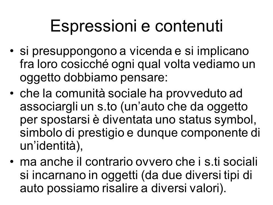 Espressioni e contenuti