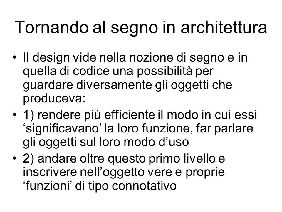 Tornando al segno in architettura