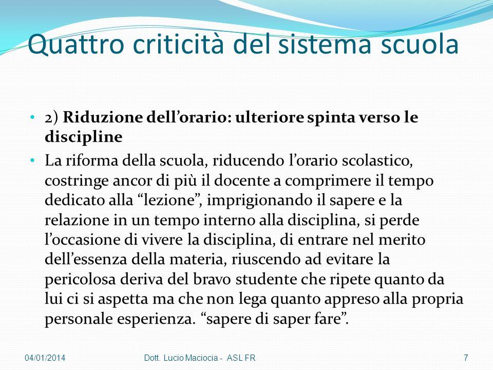 Quattro criticità del sistema scuola