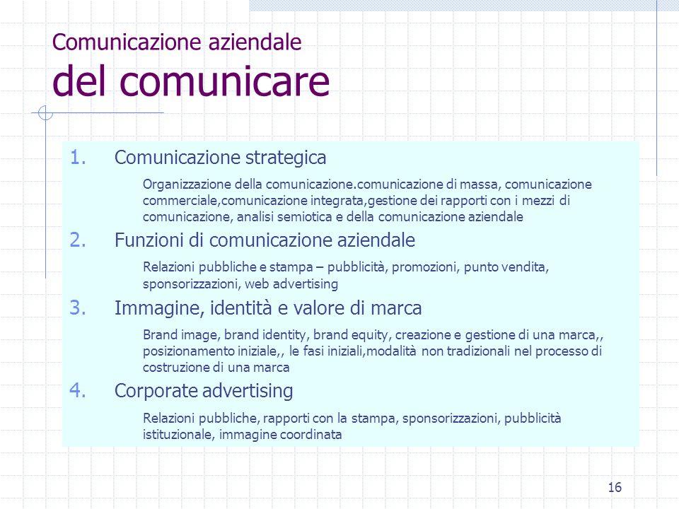 Comunicazione aziendale del comunicare
