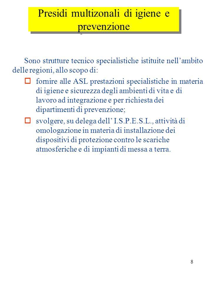 Presidi multizonali di igiene e prevenzione