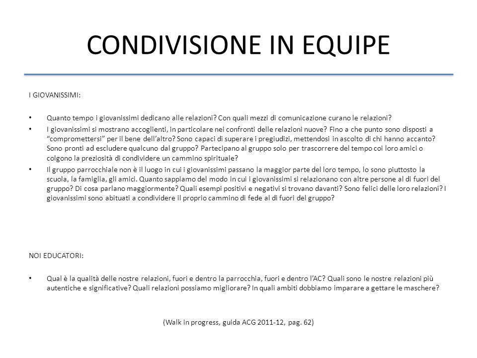 CONDIVISIONE IN EQUIPE