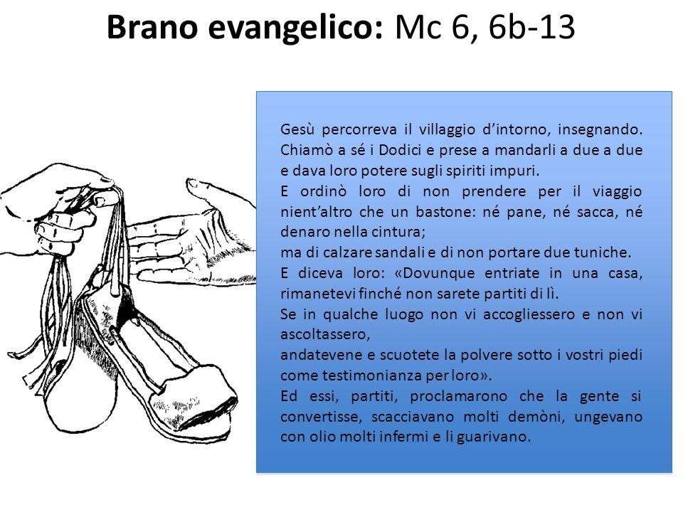 Brano evangelico: Mc 6, 6b-13