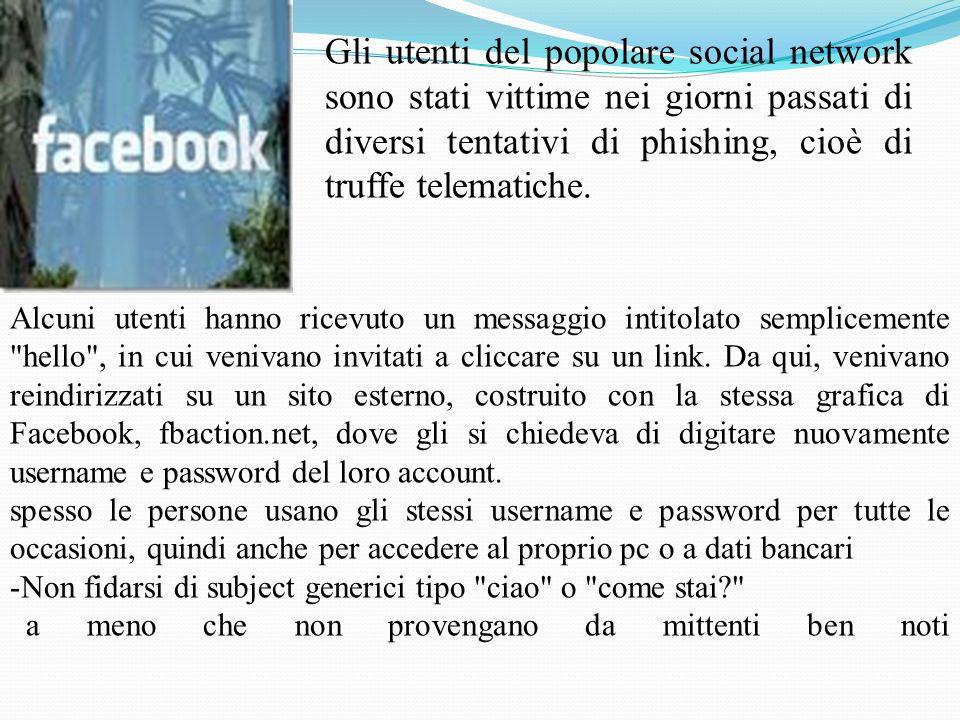 Gli utenti del popolare social network sono stati vittime nei giorni passati di diversi tentativi di phishing, cioè di truffe telematiche.