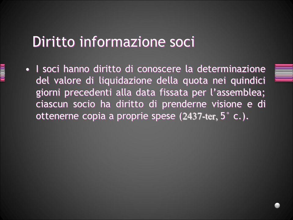 Diritto informazione soci