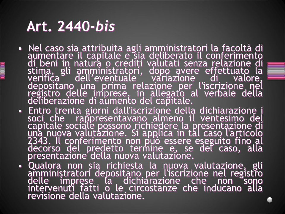 Art. 2440-bis
