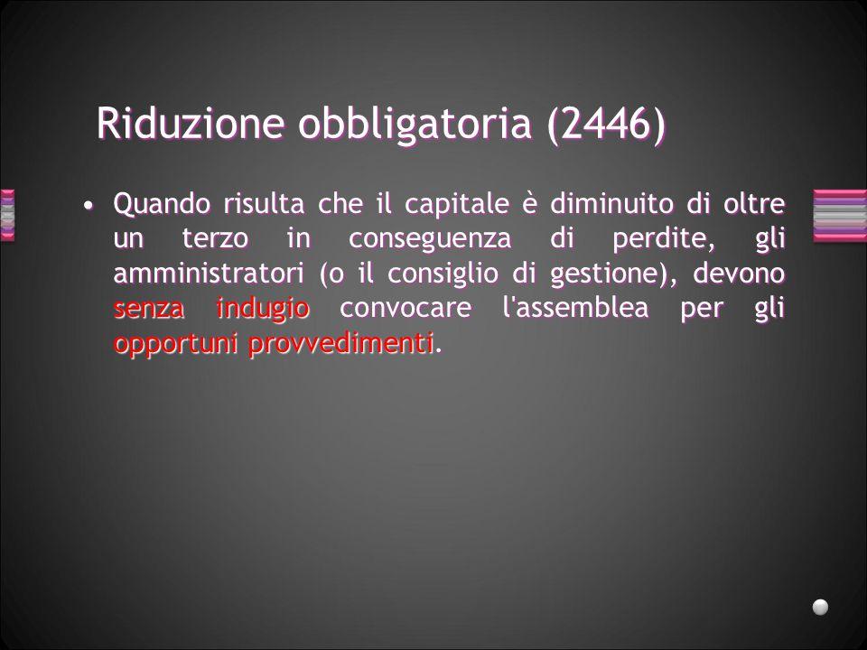 Riduzione obbligatoria (2446)