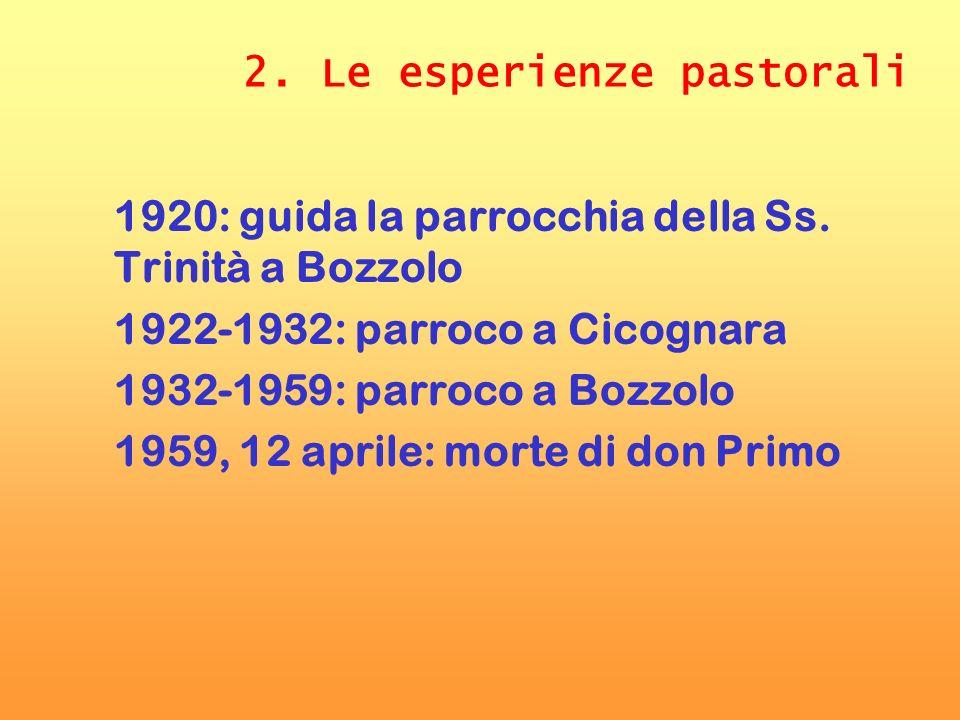2. Le esperienze pastorali