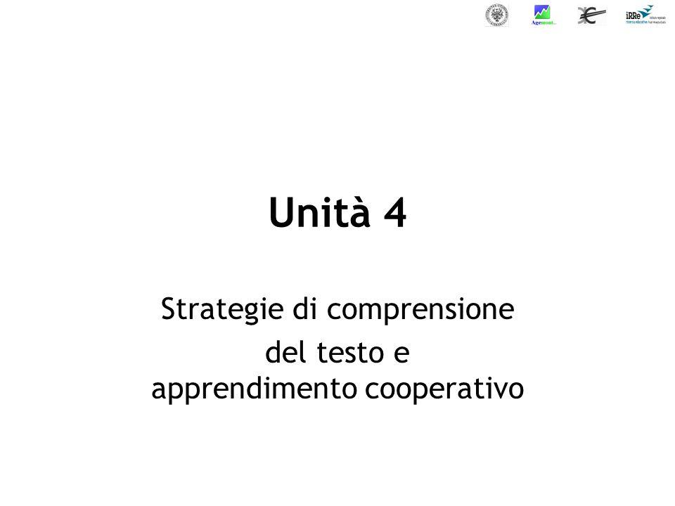 Strategie di comprensione del testo e apprendimento cooperativo