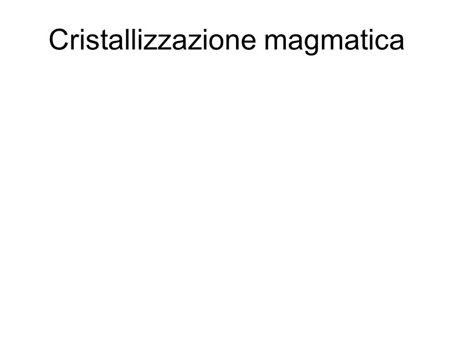 Cristallizzazione magmatica