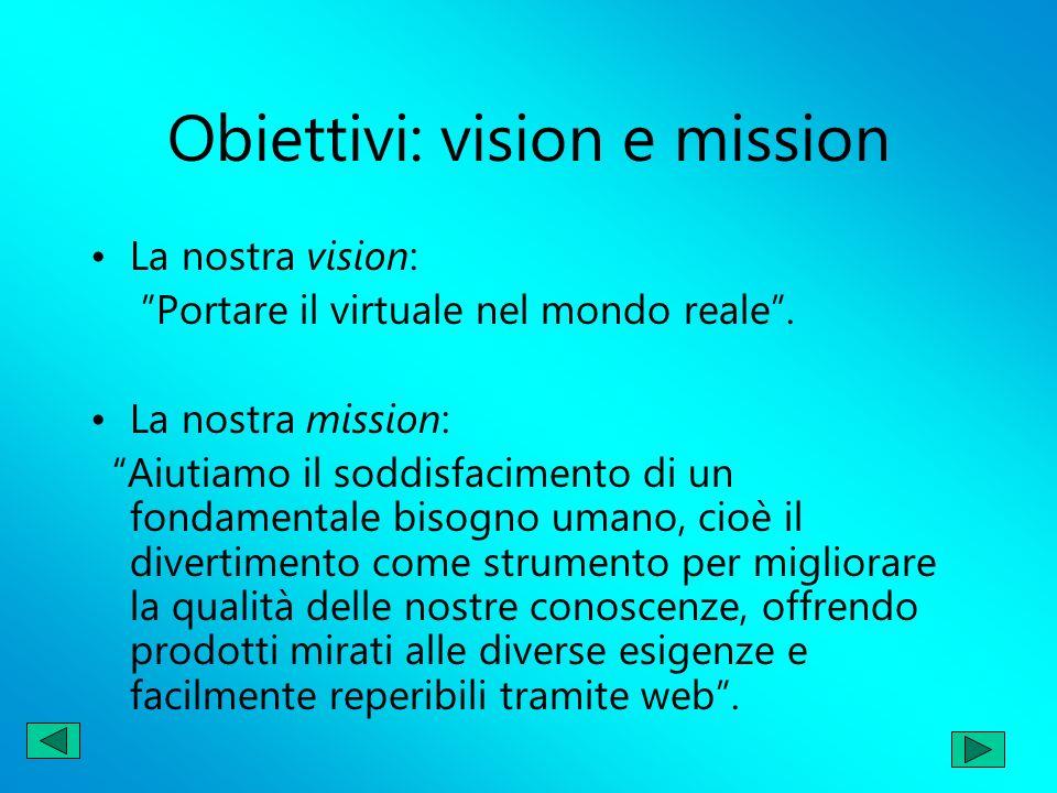 Obiettivi: vision e mission