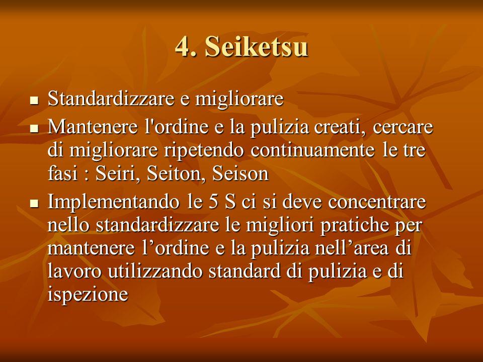 4. Seiketsu Standardizzare e migliorare