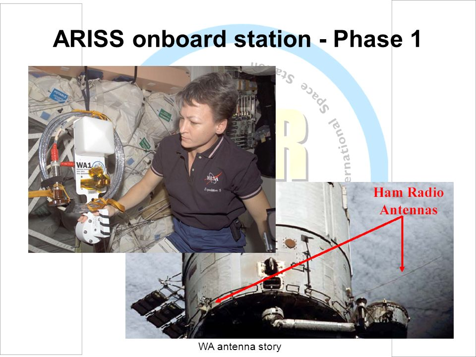 ARISS onboard station - Phase 1