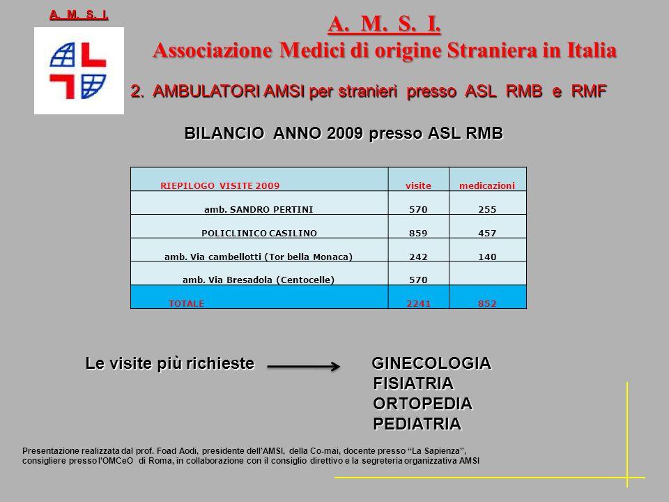 A. M. S. I. Associazione Medici di origine Straniera in Italia
