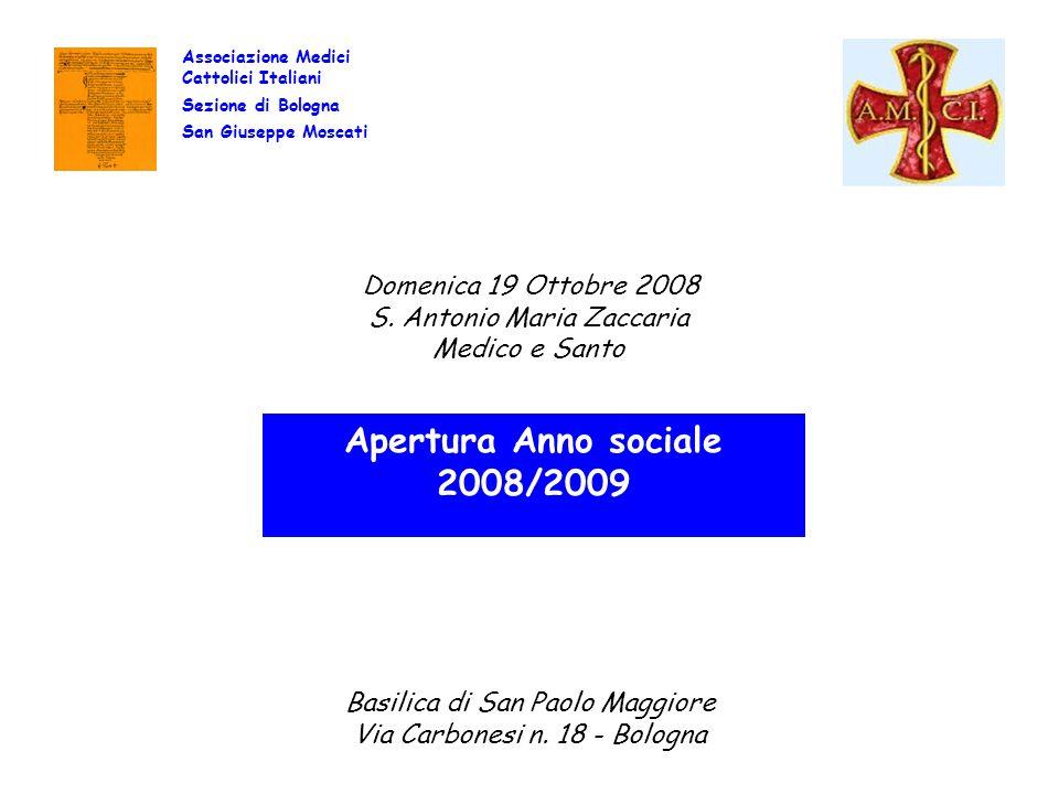 Apertura Anno sociale 2008/2009