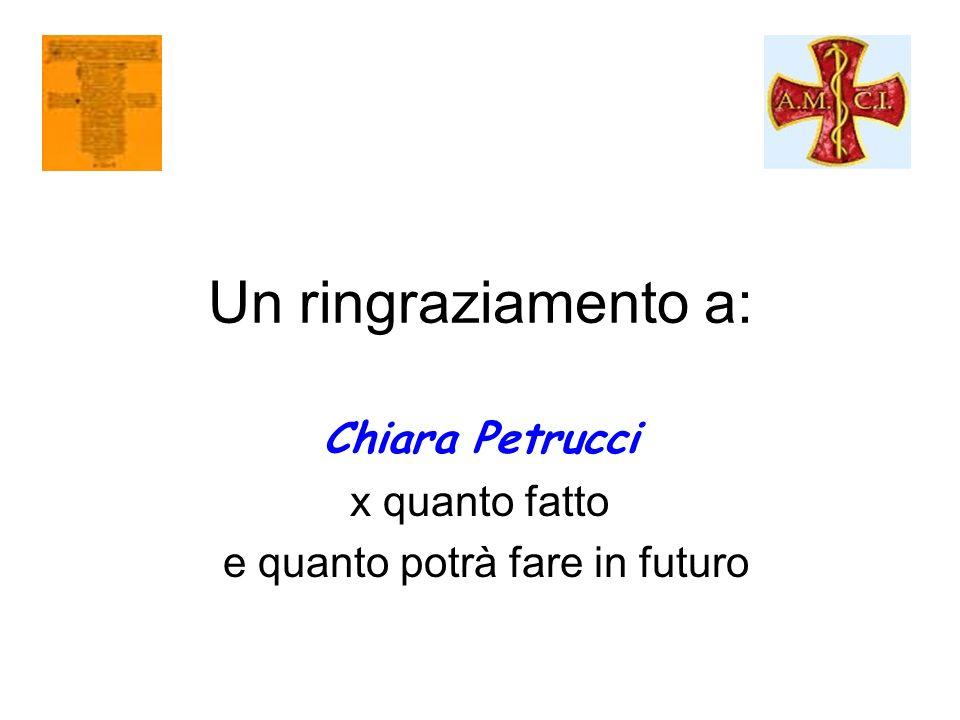 Chiara Petrucci x quanto fatto e quanto potrà fare in futuro