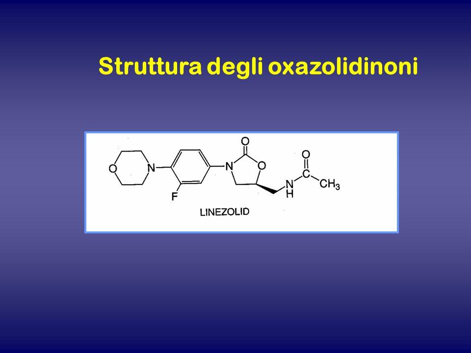 Struttura degli oxazolidinoni