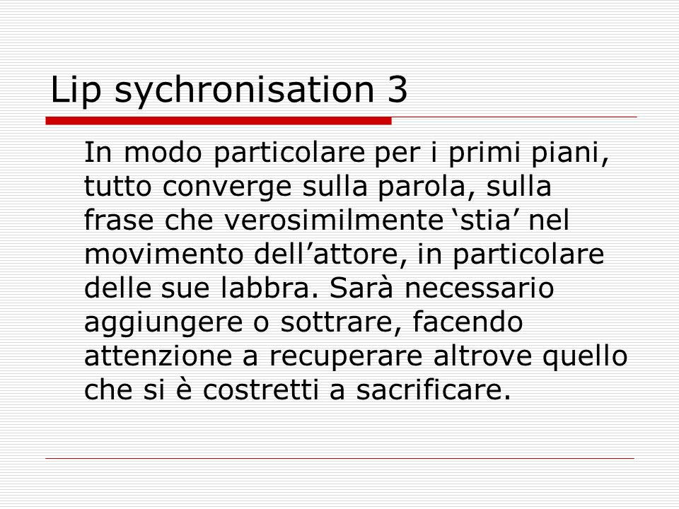 Lip sychronisation 3