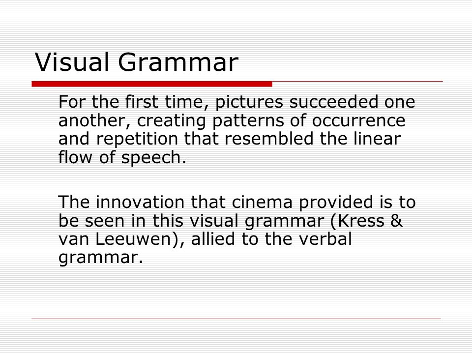 Visual Grammar